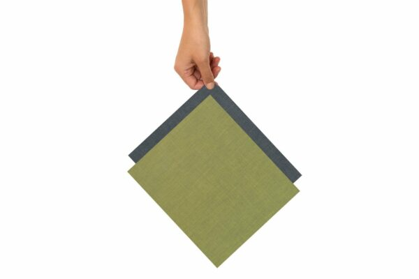 Two medium beeswax cloths in green and blue