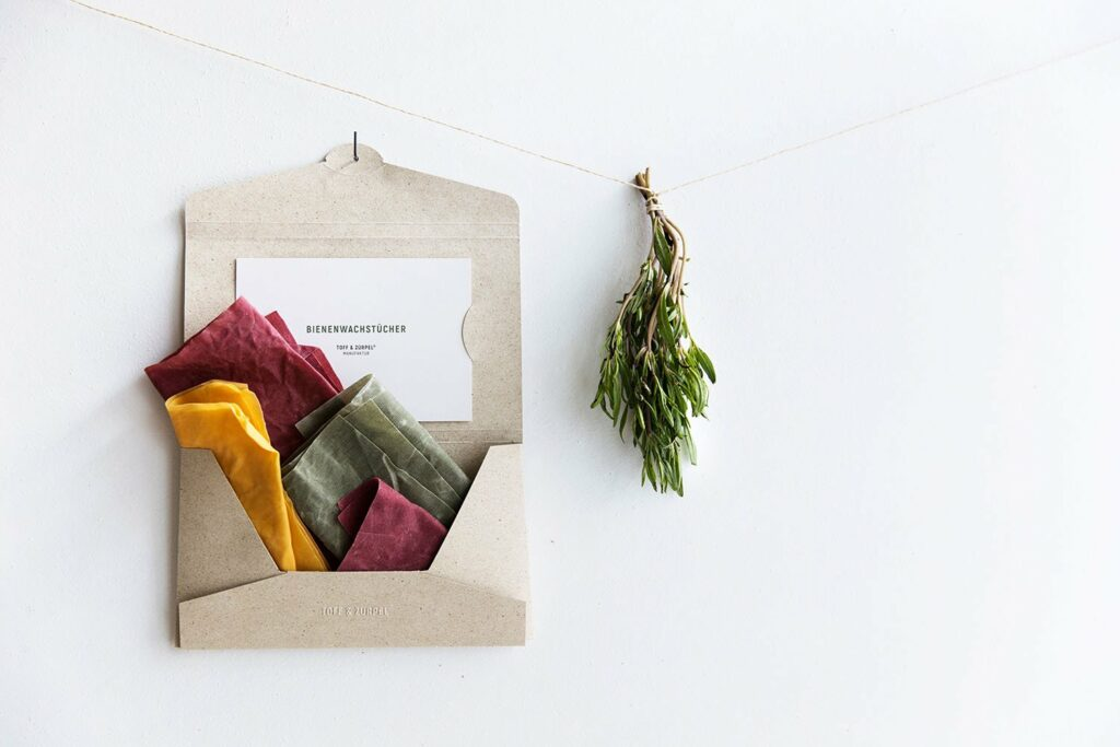 Graspapier Verpackung Küche