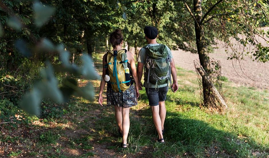 Marie und Markus beim pilgern