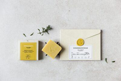Geschenkset Bienenwachstücher