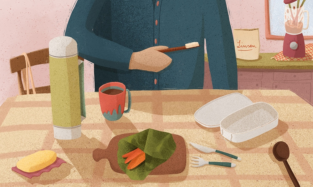 Plastikfrei leben Illustration